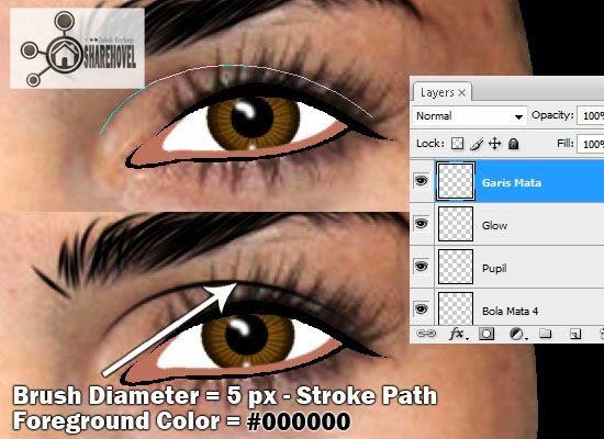 membuat vector kelopak mata menggunakan photoshop - tutorial membuat vector di photoshop - membuat foto menjadi kartun dengan photoshop