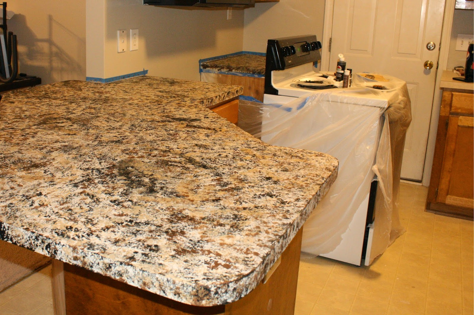 Castle Diy How To Faux Granite Countertops