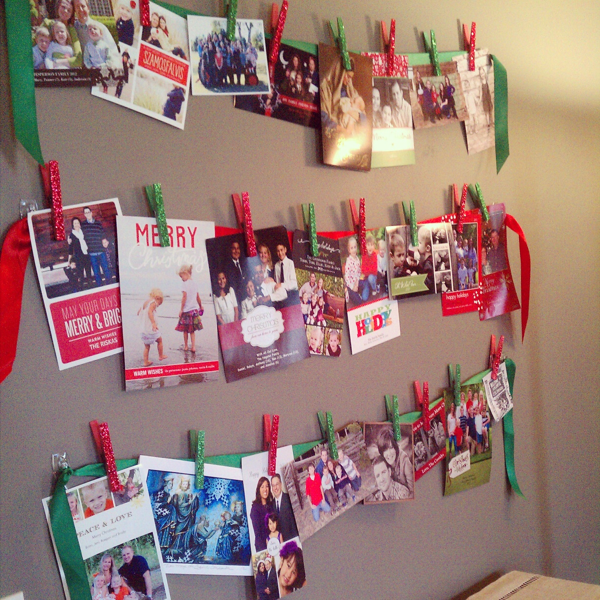 Sometimes Creative: Christmas Card Display