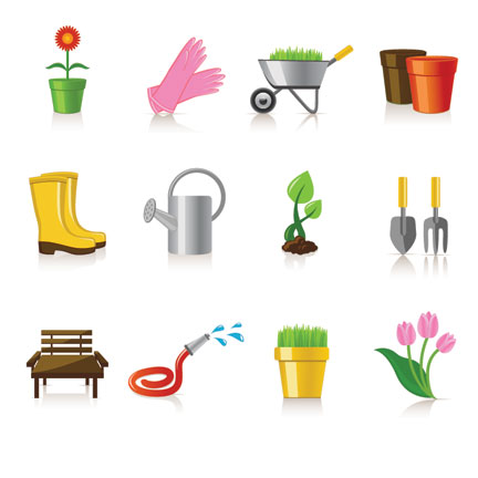Captivating Gardening Tools , Garden Objects , Garden Icons , Flower Pot , Grass ,  Tools , Pipe, Flower Pot