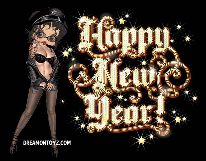 adult new year cards