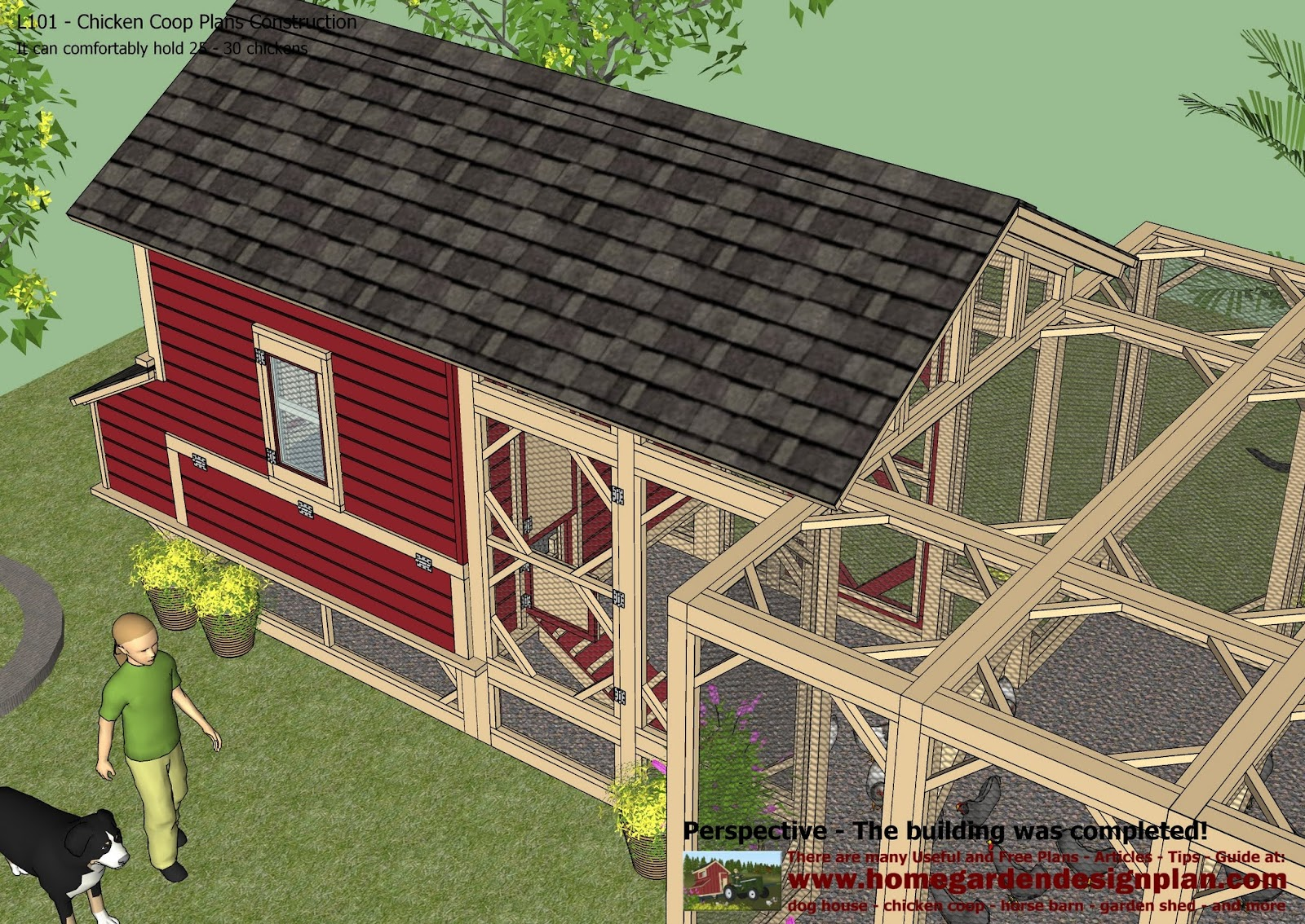 Chicken Coop Plans Construction - Chicken Coop Design - How To Build ...