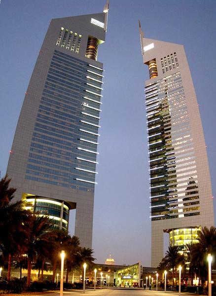 emirates towers dubai futuristic architecture