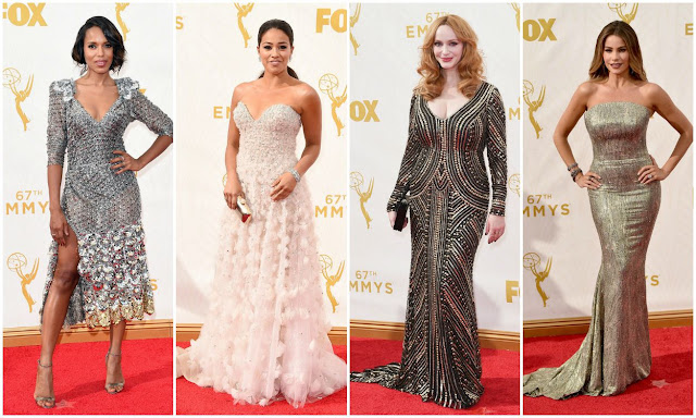 silver, trend, fashion, emmys, kerry washington, gina ridriguez, christina hendricks, sophia vergara