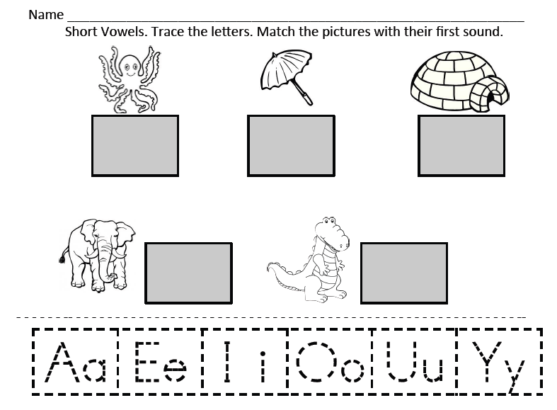 Kindergarten Corps August 2013 – Vowels Worksheets for Kindergarten