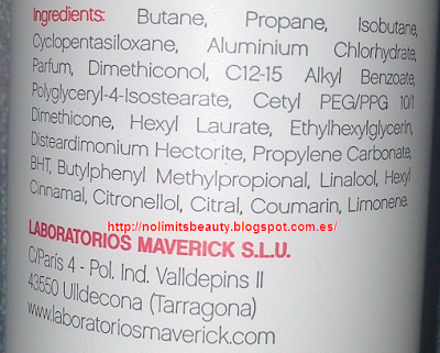Ingredientes del desodorante Red Love By Chica Fashion (Deliplús)
