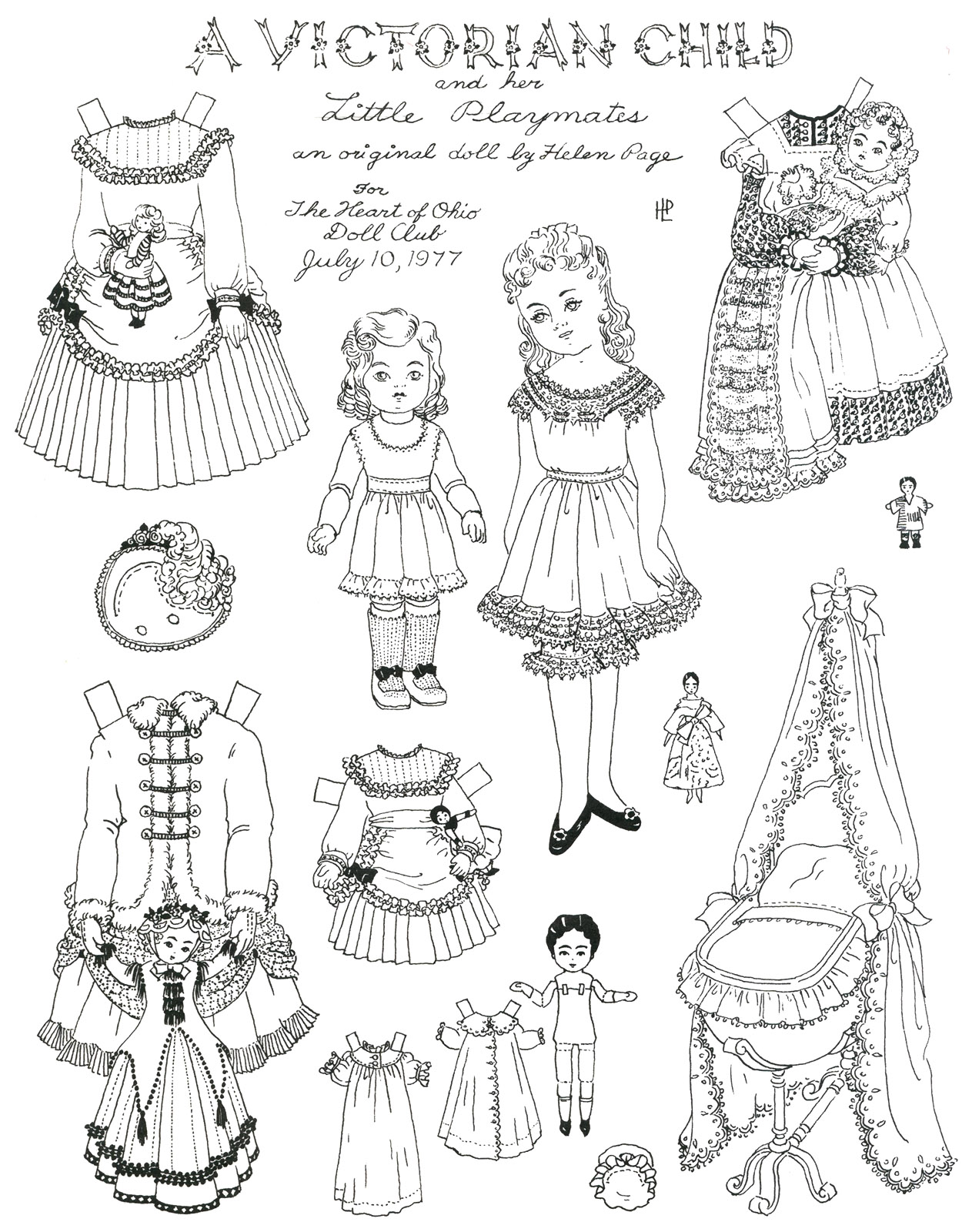 paper doll coloring pages girls - photo#17