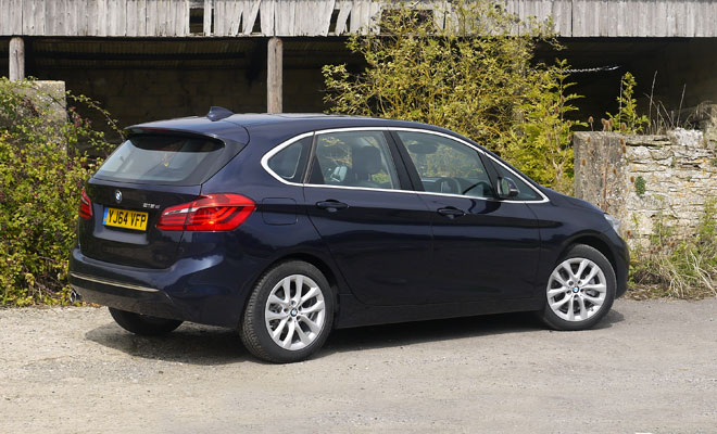 Front row bmw s 2 series active tourer driven