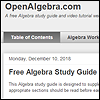 Logo for Algebra Study Guide with Videos