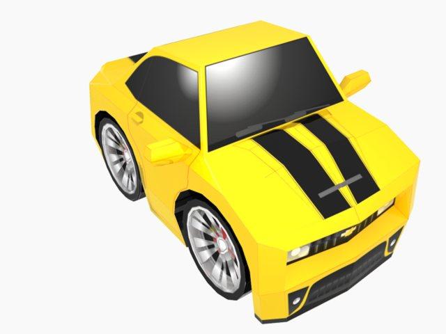 SD Camaro Paper Toy