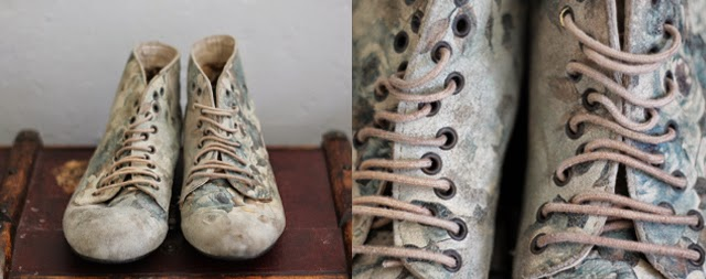 vintage patterned style boots