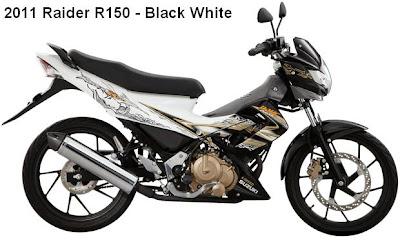 2011 Suzuki Raider R150 White black color