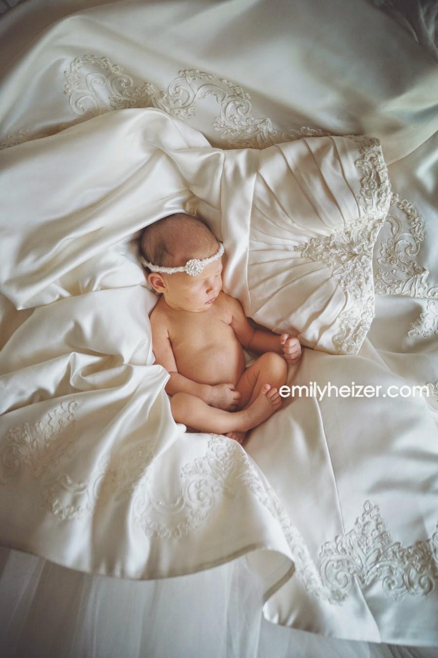 Newborn Wedding Dress 93 Nice Snoozin u on her
