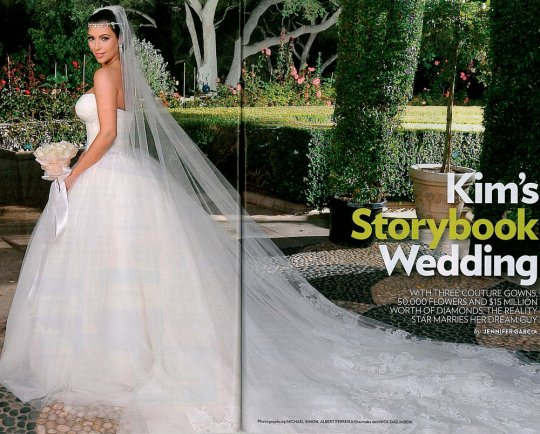 Oggi sposi blog matrimonio kim kardashian tutte le foto for Kim kardashian s wedding dress