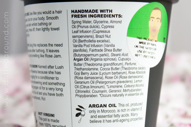 Lush Ros argan body conditioner
