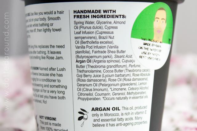 Lush Ros argan body conditioner
