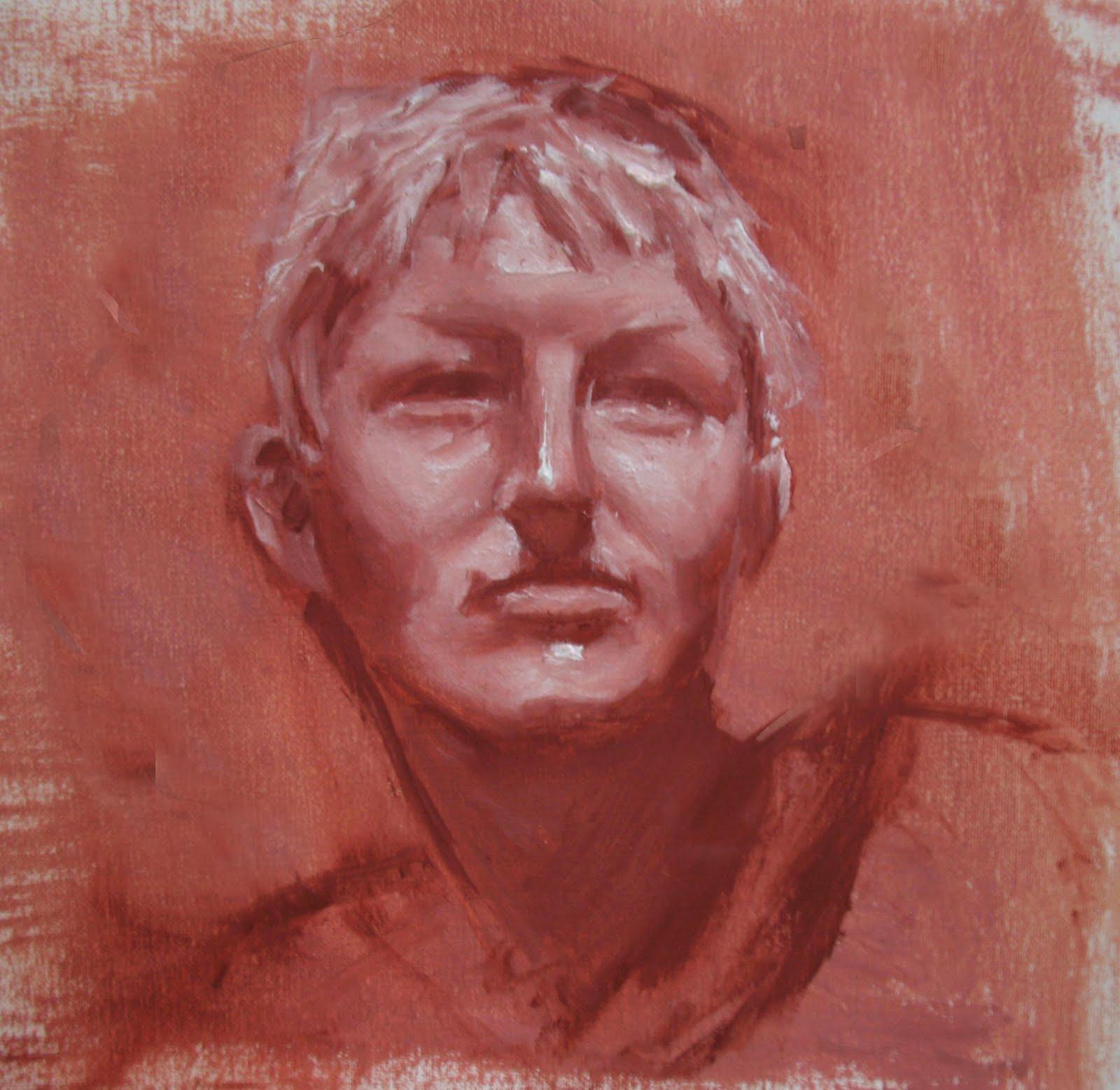 Monochrome Oil Painting Tad