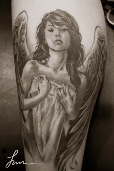 great tattoos with angel wings
