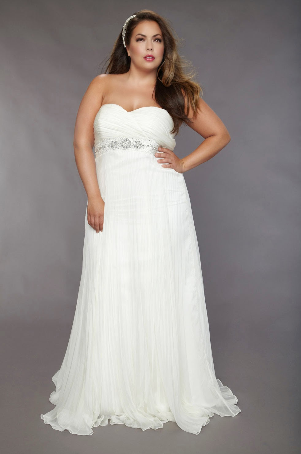 Plus size wedding dresses for older brides second marriage for Best wedding dress styles for plus size brides