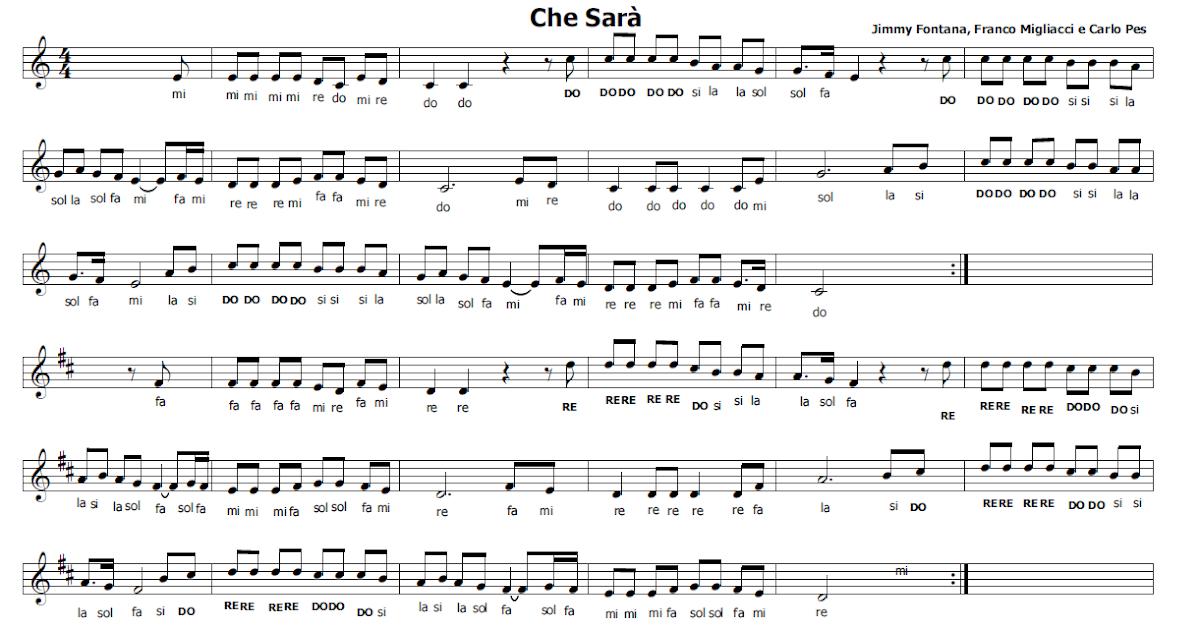 Musica e spartiti gratis per flauto dolce che sar - Aggiungi un posto a tavola accordi ...