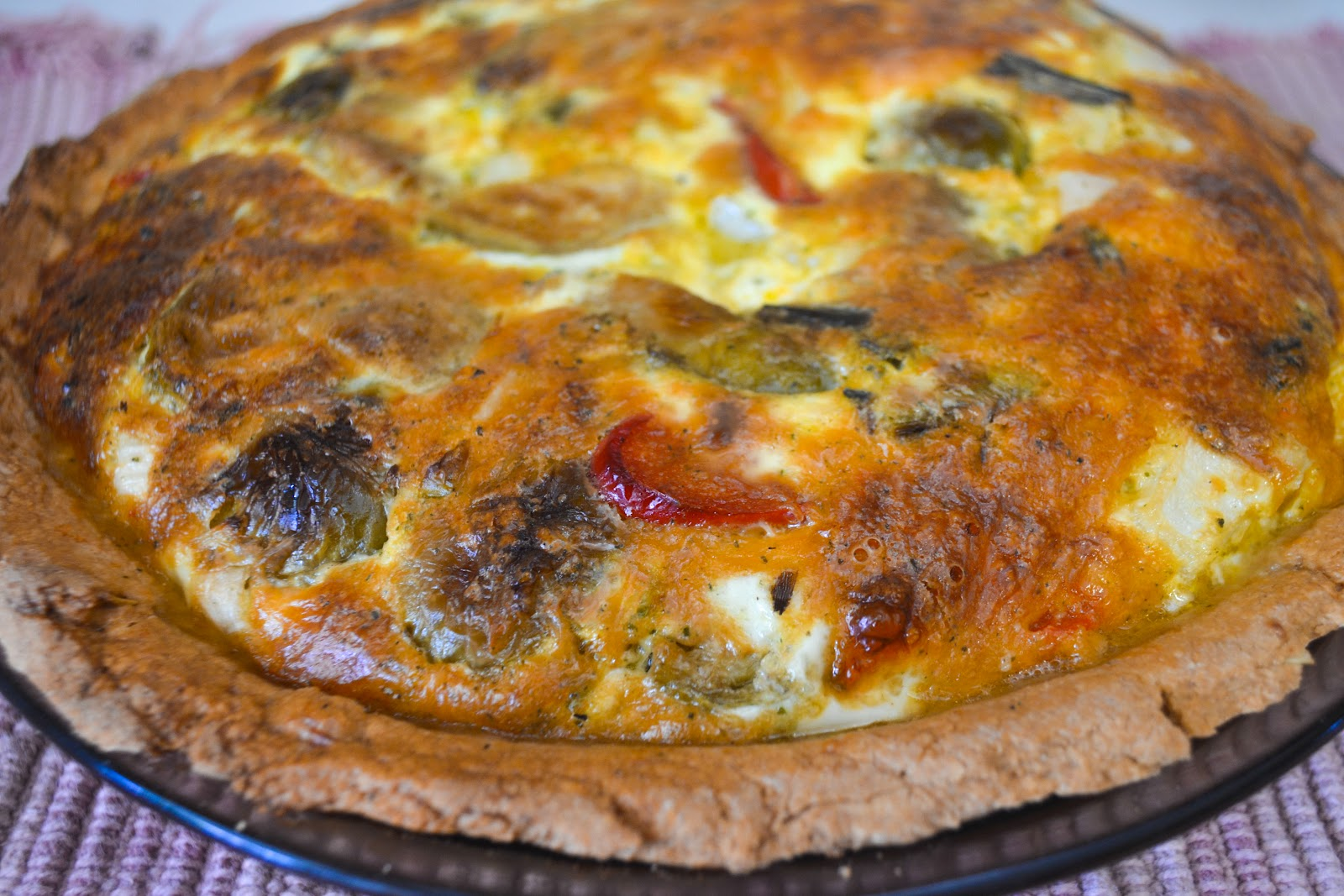 TRULY ORIGINAL ORGANICS: Roasted Vegetable Pesto Quiche- Child ...