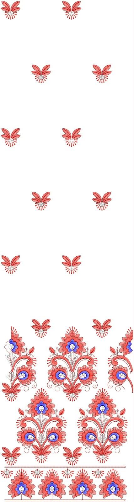 Embdesigntube pakija test ladies dress embroidery designs