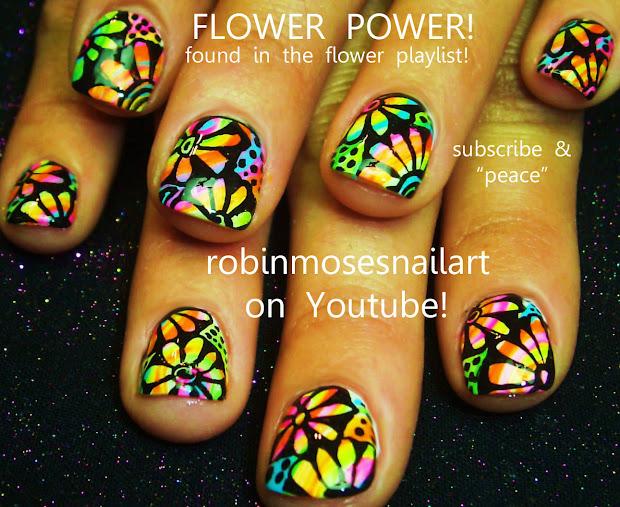"""robin moses nail art """"neon nails"""""""