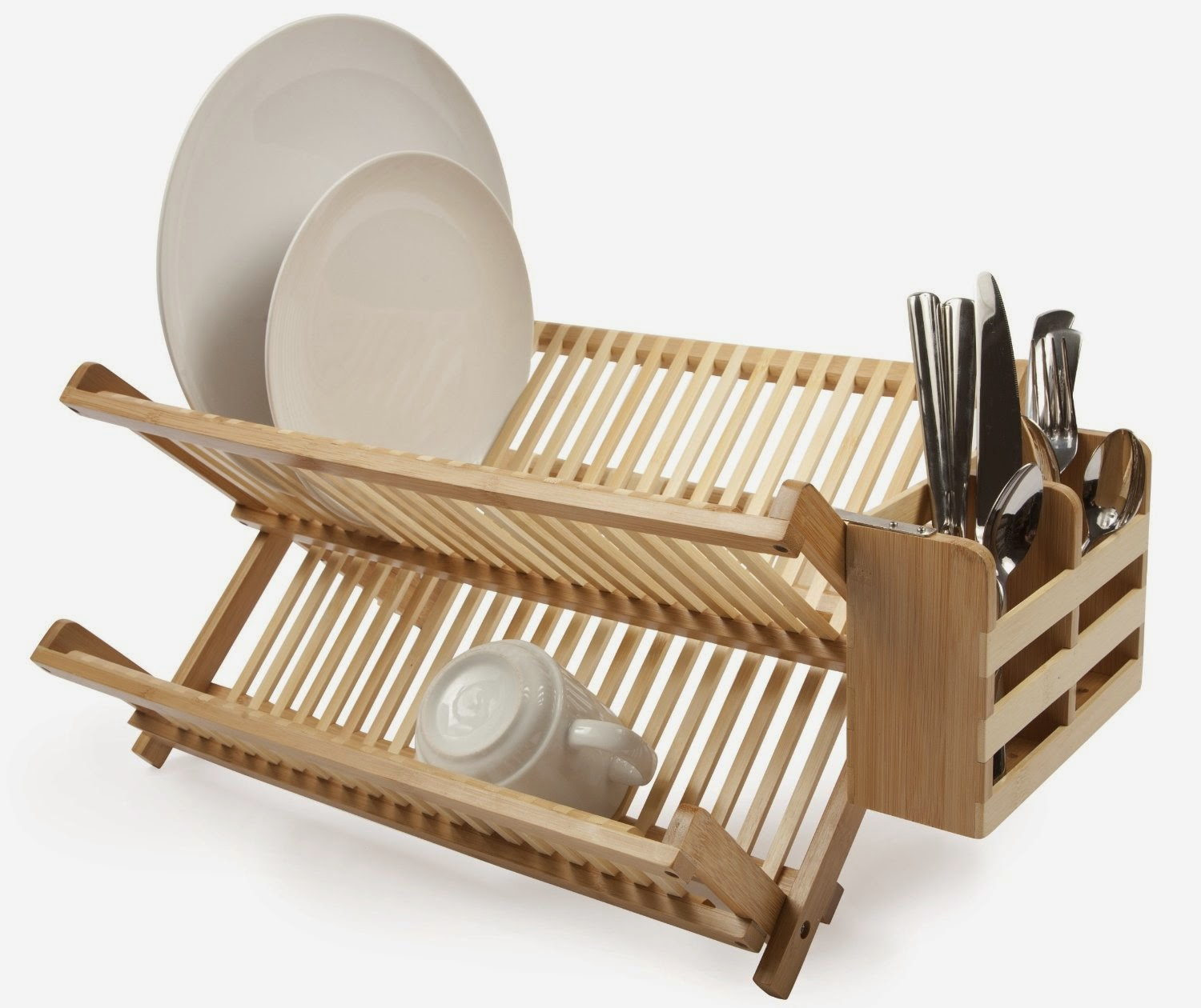 Shop At The E Store Bamboo Dish Rack Utensil Holder