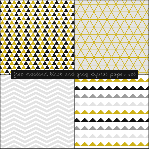 Free Mustard, Black and Gray Digital Paper