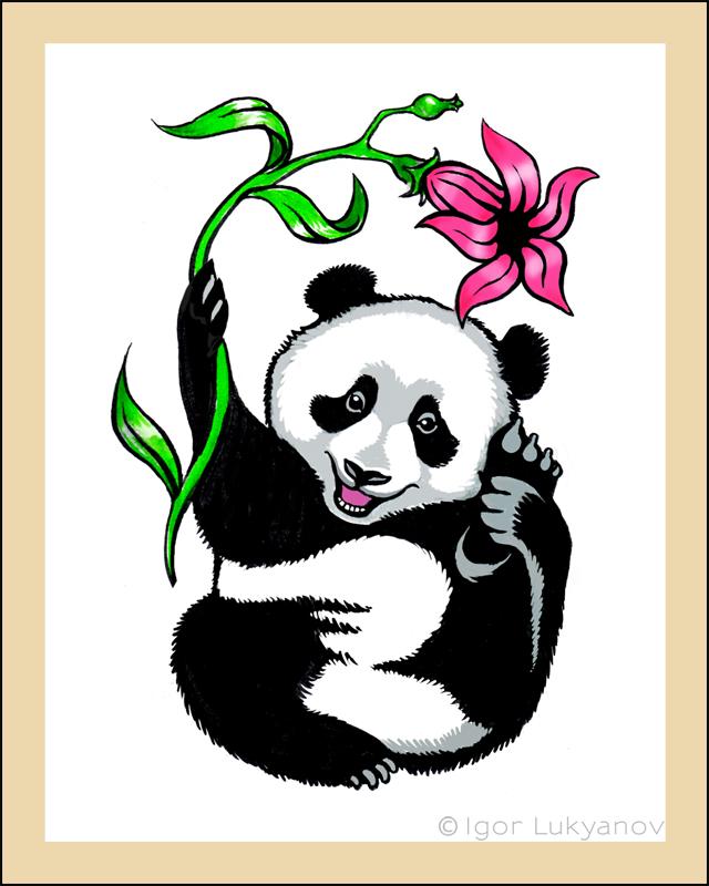 Igor lukyanov graphic artist illustrator portraitist for Baby panda tattoo