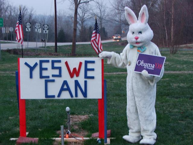 Easter Bunny Supports Obama