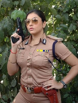 Actress Namitha in Police Dress Wallapaper