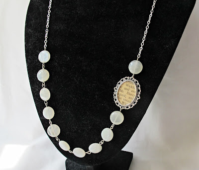 image mr darcy necklace jane austen asymmetrical moonstone beads beaded two cheeky monkeys