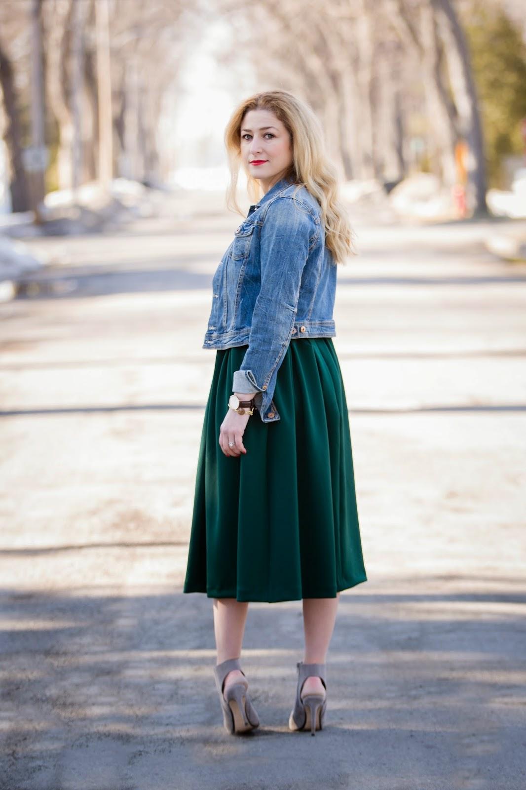 pleated waist midi skirt