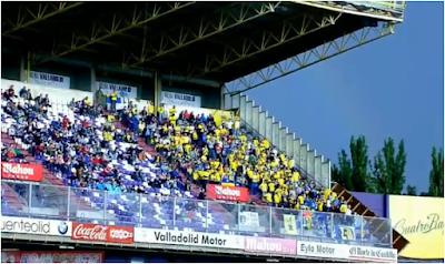 Afición Canaria en el Estadio Jose Zorrilla