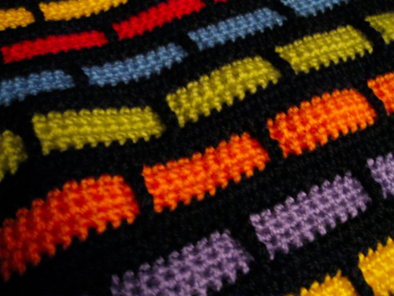 Who wants to be martha when i can be me revisiting an old make an ingenious stitch into the row of black a few centimetres below creates the funky brick pattern in this blanket bankloansurffo Image collections