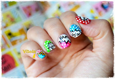 Reto ABC de las uñas - con C de Cómic diseño de uñas vilcis