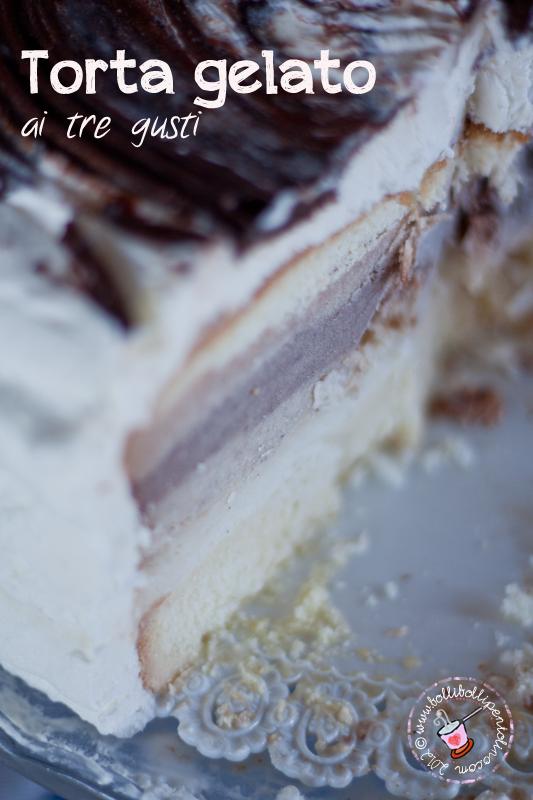 ... bolli pentolino: Torta gelato ai tre gusti: gianduia, nocciola e panna