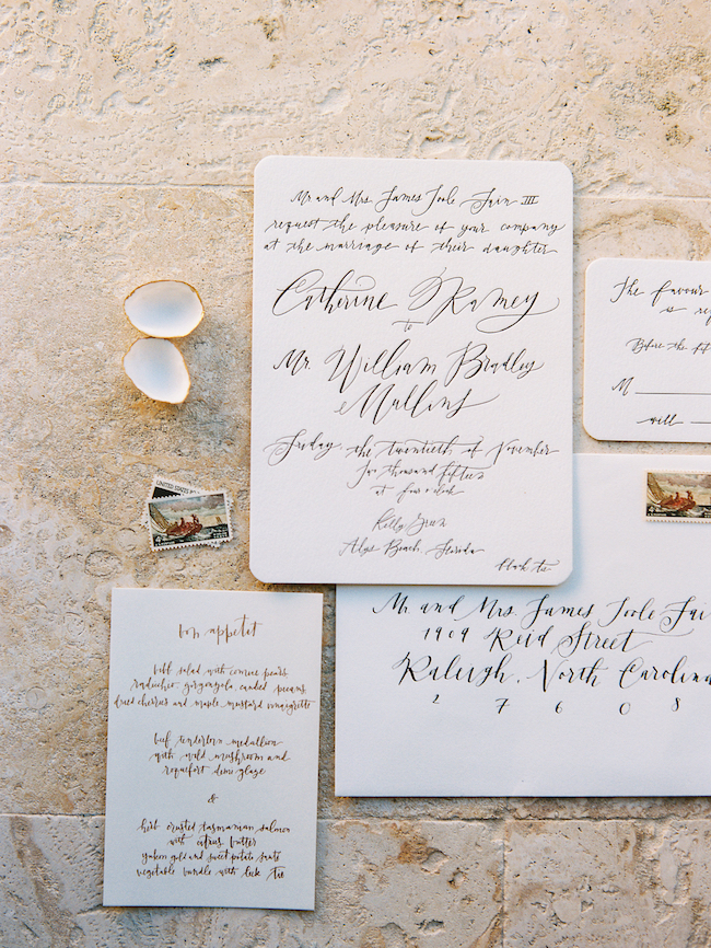 Bella Figura Wedding Invitations Charlie Whiskey Custom Wedding Calligraphy