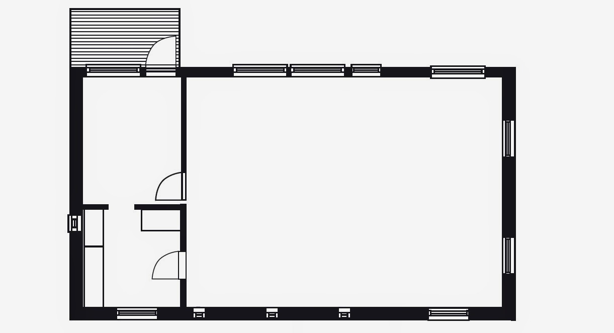 Puuta ja kiveä -modernin puutalon makuuhuone ja vaatehuone