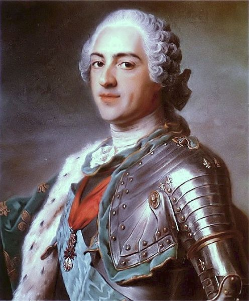 Louis XV of France by Maurice Quentin de La Tour, 1748