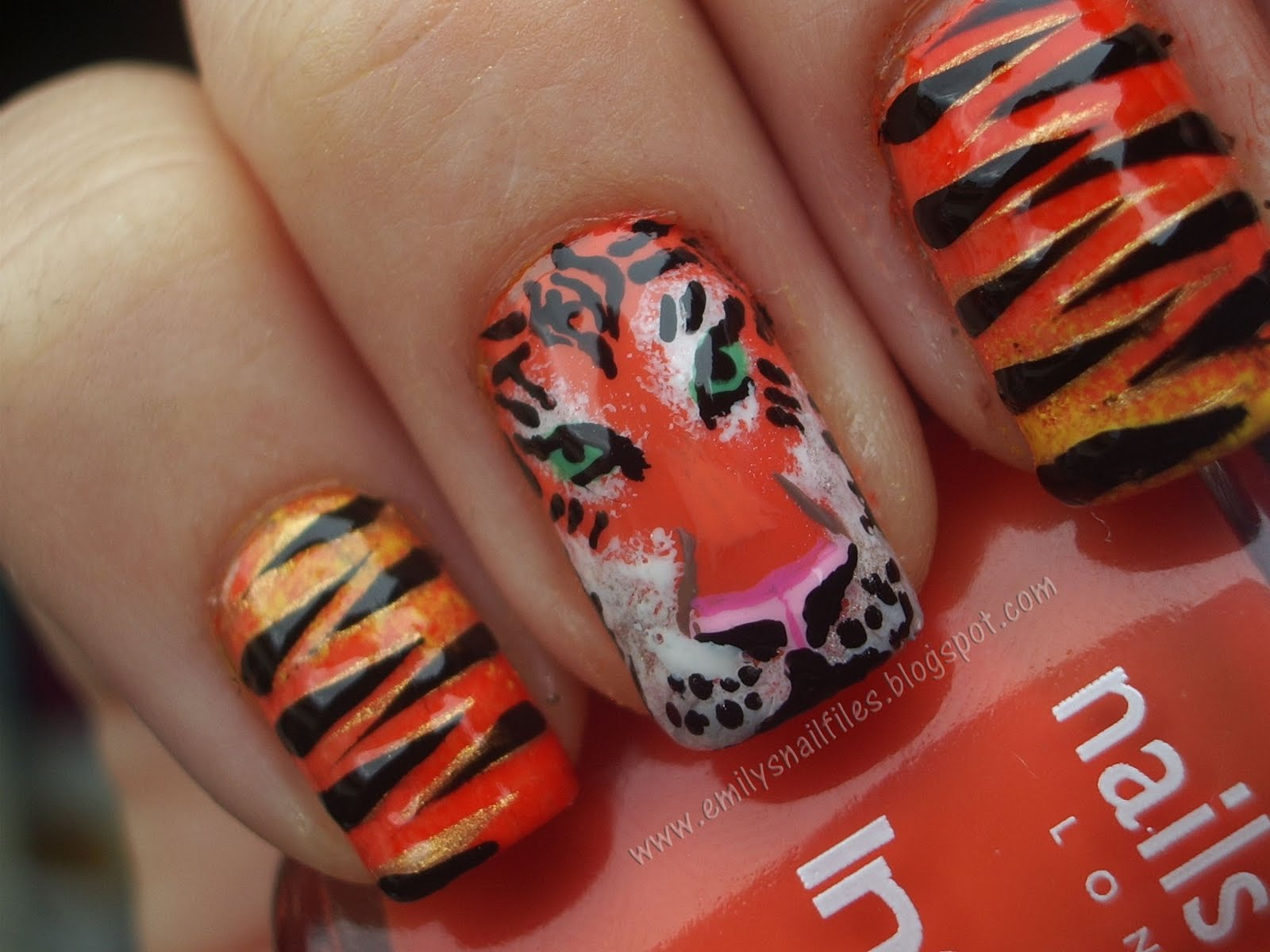 Tiger Nail Designs Pictures to Pin on Pinterest - PinsDaddy