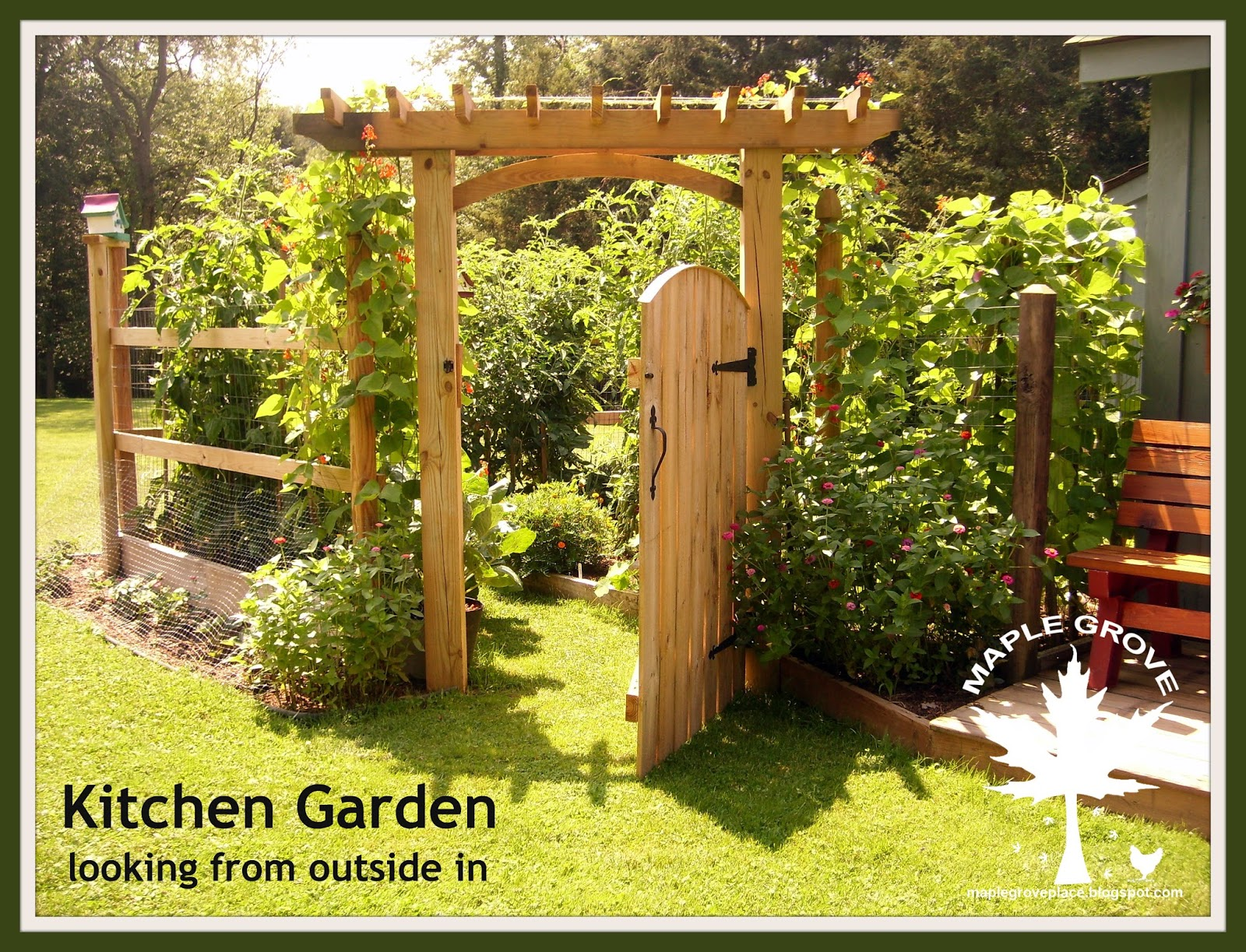 Planning A Kitchen Garden Maple Grove Lush And Green Kitchen Garden