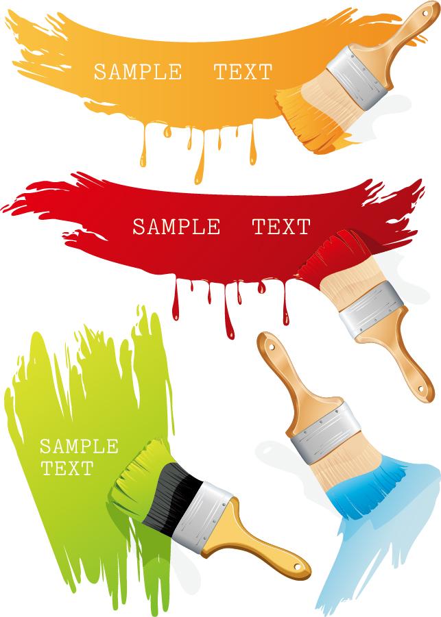 ペイント テーマのクリップアート paint brush ink theme イラスト素材