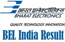 BEL India Result 2016