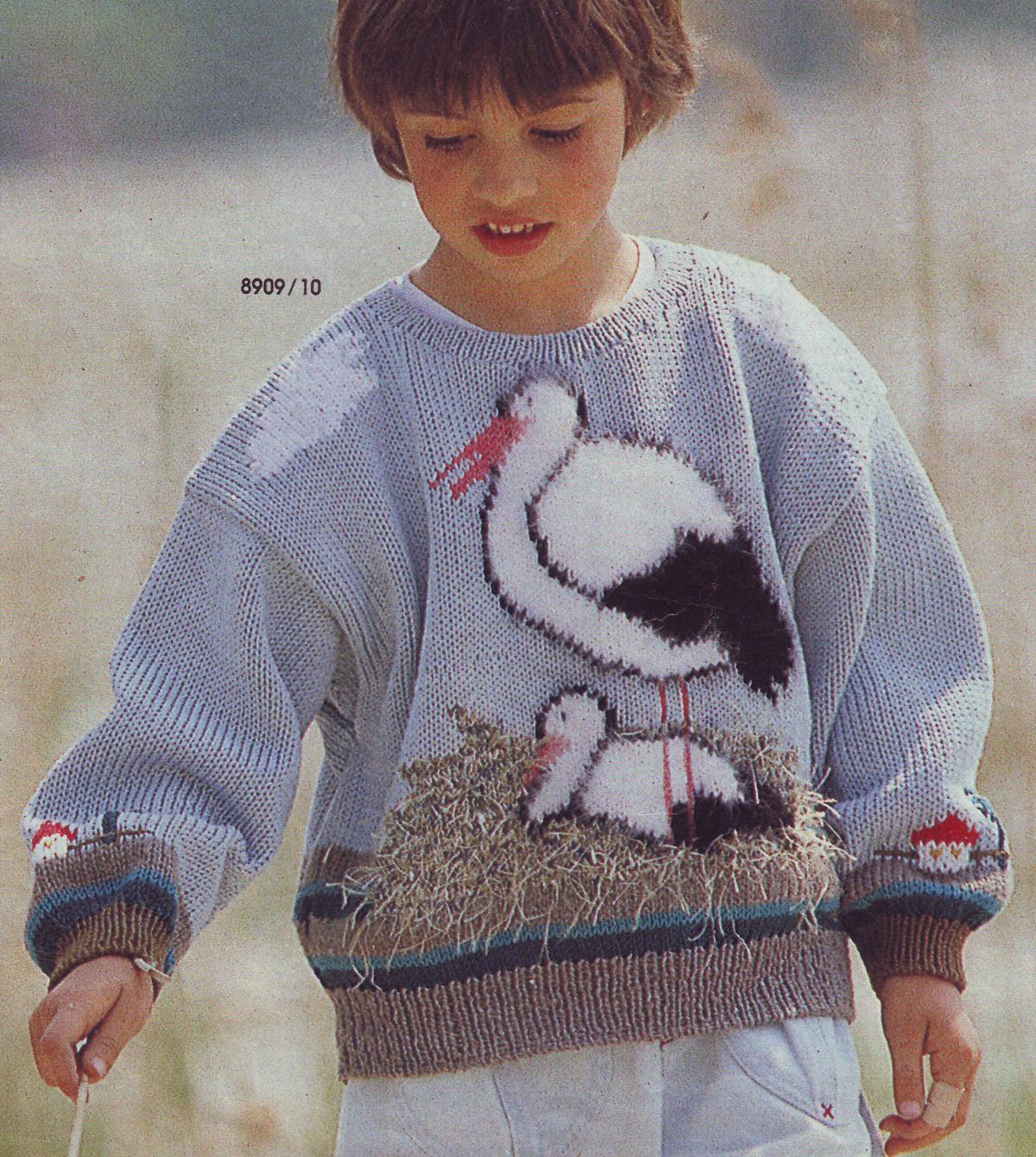 Детское вязание с картинкой