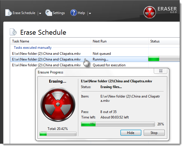 how to delete history eraser from computer