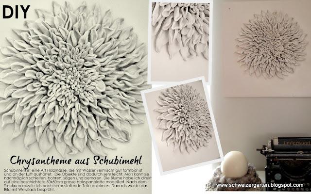 chrysantheme aus schubi mehl dekoideen pinterest. Black Bedroom Furniture Sets. Home Design Ideas