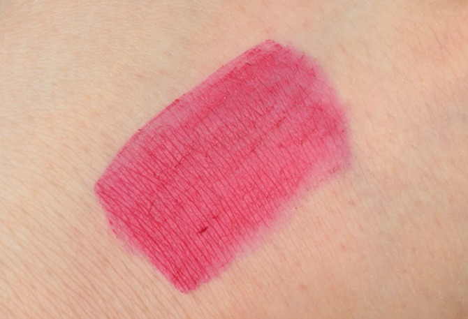 Swatch of the Kiss Cosmetics KISStick in Frisky Fuchsia