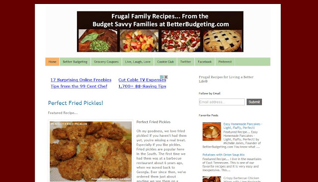 Frugal Family Recipes